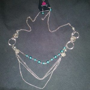 Paparazzi Necklace Teal #428